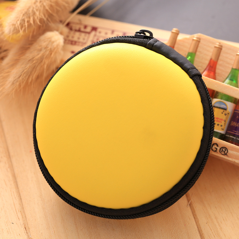 2017 New Designs Solid Colors Coin Purse Silicone Round Dollar Coin Wallet Portable Key Bag Case Headphone Storage Zipper Pouch