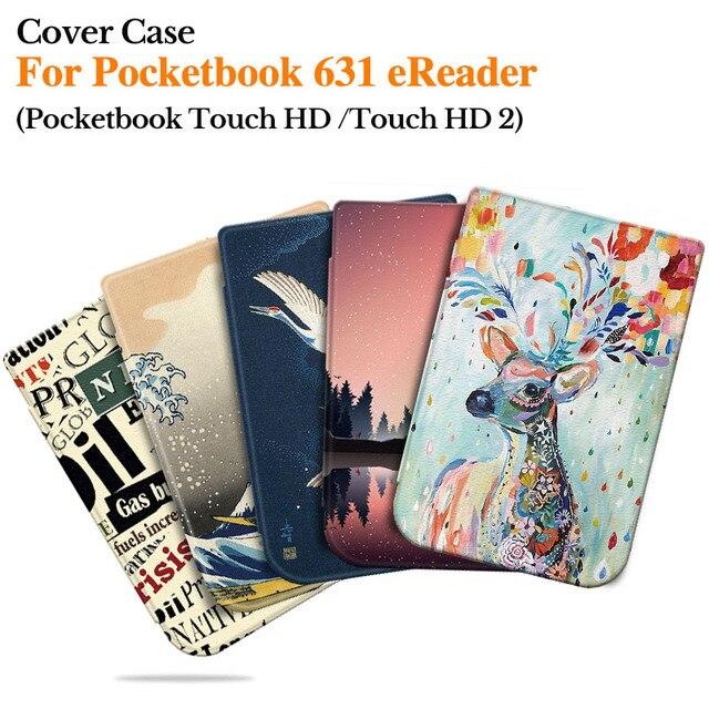 BOZHUORUI Smart Cover для Pocketbook 631 Touch HD/Touch HD 2 Ruby Red читалка моды роспись оболочки аксессуары с «Режим сна/Пробуждение»