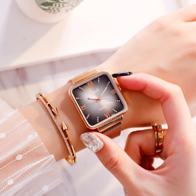 JBAILI Top Brand Women Watches Gold Mesh Ladies Clock Magnet Buckle Diamond Relogio Feminino Leisure Dress Quartz Wristwatch