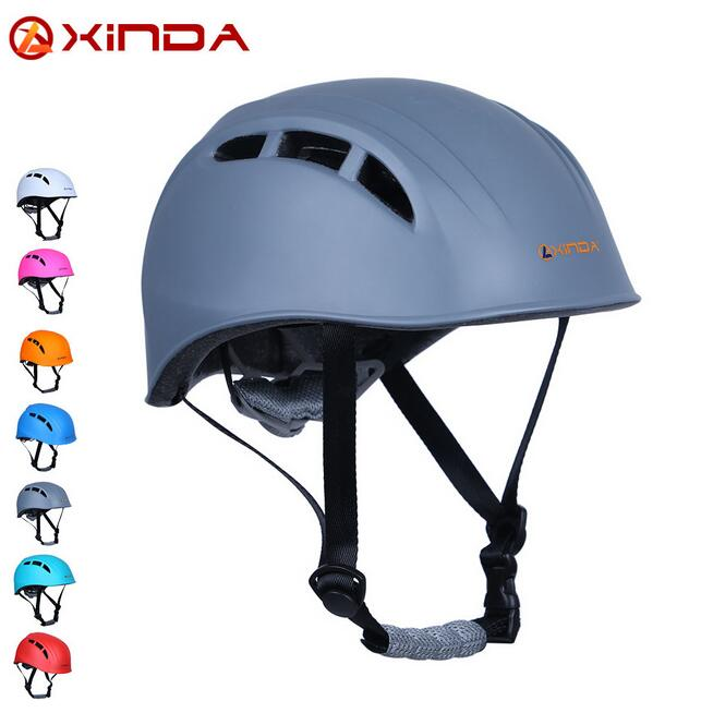 XINDA Adjustable Mountaineering Helmet Head Safety Guard Protective Gear Rescue Tool Sports Safety Helmets for Rock Climbing xinda professional handle pulley roller gear outdoor rock climbing tyrolean traverse crossing weight carriage device
