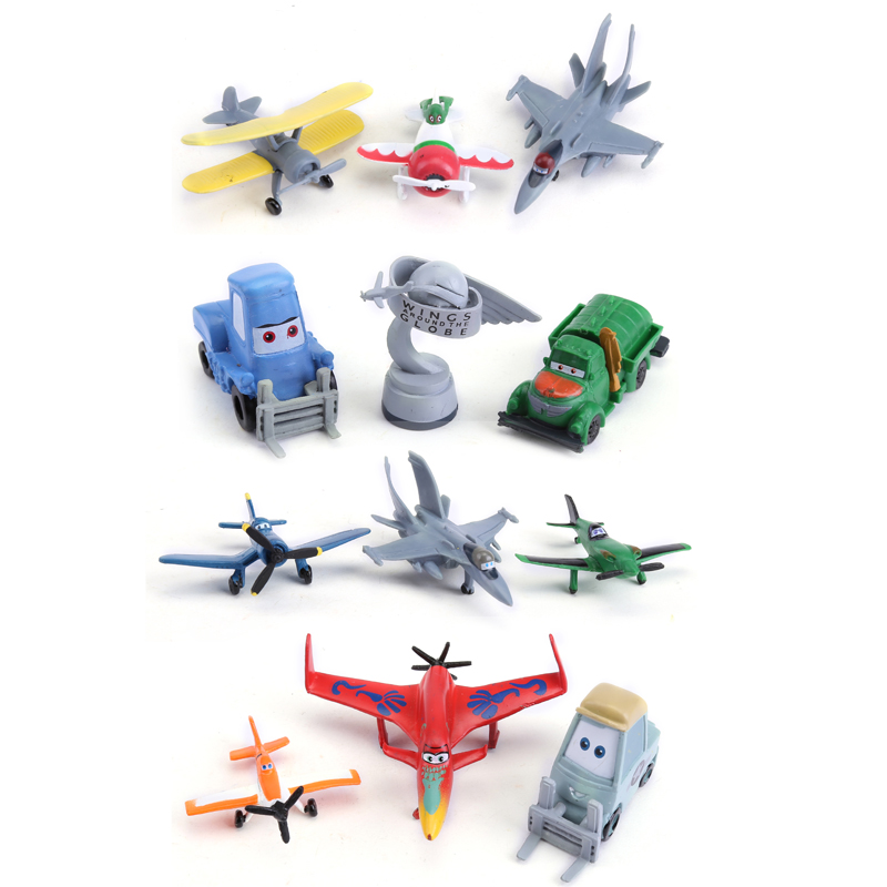 Planes Pixar Dusty Skipper PVC Mini PVC Figure Toys 12pcs/set Kids Toys Gifts for Children DSFG234 фотообои disney edition 1 planes dusty and friends 184 х 254см