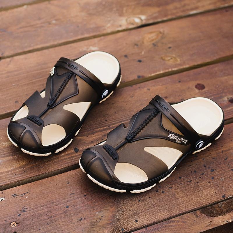 323e391680c10 Z 2017 Famous Brand Summer Men Sandals European Beach Buckle Designer Walking  Platform Slippers Men Casual Shoes Size 40 45-in Men s Sandals from Shoes  on ...