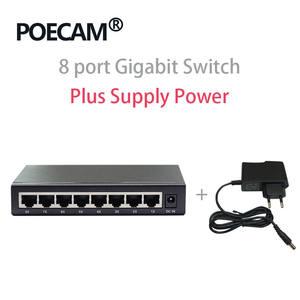 Ethernet-Switches Utp-Interface Network Desktop RJ45 8-Port 10/100/1000mbps-optional