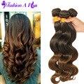 Venda quente brasileiro corpo onda Ombre cabelo tece 3 bundles cabelo humano tece brasileiro virgem cabelo Ombre extensões de cabelo