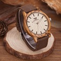 KENON 2017 Hot Sell Sports Dress Casual Natural Wood & Bamboo Watch With Canvas Band for mens Gifts With Wooden Box