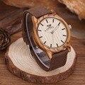 Kenon 2017 venta caliente deportes vestido ocasional de madera natural y Reloj Con Banda de Lona para hombre Regalos de bambú Con Madera caja