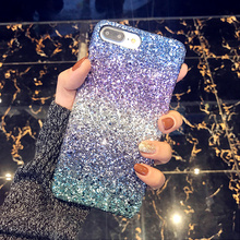 Hard Case for Iphone X 8 7 6 6s Plus Lady Girl Bling Glitter Ombre Sky 7e0b930ad714