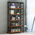 Bookcases Living Room Furniture Home Furniture panel+steel bookcase bookshelf whole sale 60*34*175cm can customize size 2016