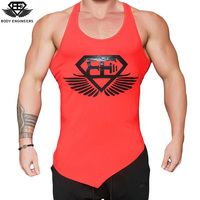 Body Engineers 2017 Men Summer Fitness Sleeveless Quick Drying Breathable Vest Aesthetic Cotton Printing Casual Tops