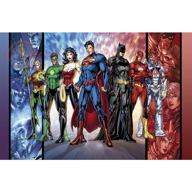 DC Comics Justice League Home Decoration Poster Custom Canvas Poster Art Home Decoration Cloth Fabric Wall Poster Print Silk Fabric