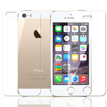 Front LCD Screen Protector Back Cover trasparente Tempered Glass Protective HD Film Shield For apple iphone