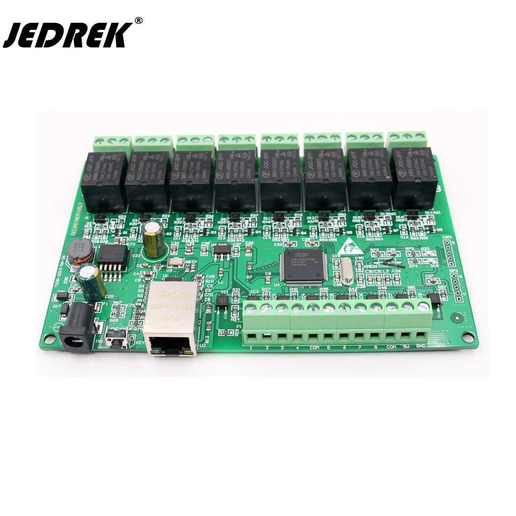 TCP/IP 8 Manier IO 8 Kanaals Netwerk Relais Web Relais Dual Control Ethernet RJ45 interface TCP Modbus UDP Ondersteuning Http krijgen