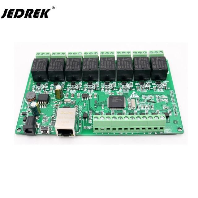 TCP/ip 8 طريقة IO 8 قناة شبكة التتابع ويب التتابع المزدوج التحكم إيثرنت RJ45 واجهة TCP Modbus UDP دعم Http الحصول على