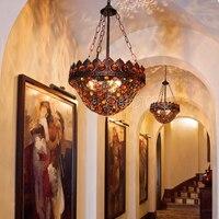 Diffuse coffee chandelier Southeast Asia Thai Style Bar Cafe crystal chandelier Mediterranean Bohemia Restaurant