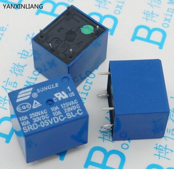 78d7b8d7378 5 pcs 5VDC 10A Power relay SRD-05VDC-SL-C Tipo PCB SRD-5VDC-SL-C T73-5V 5  pés Novo e original
