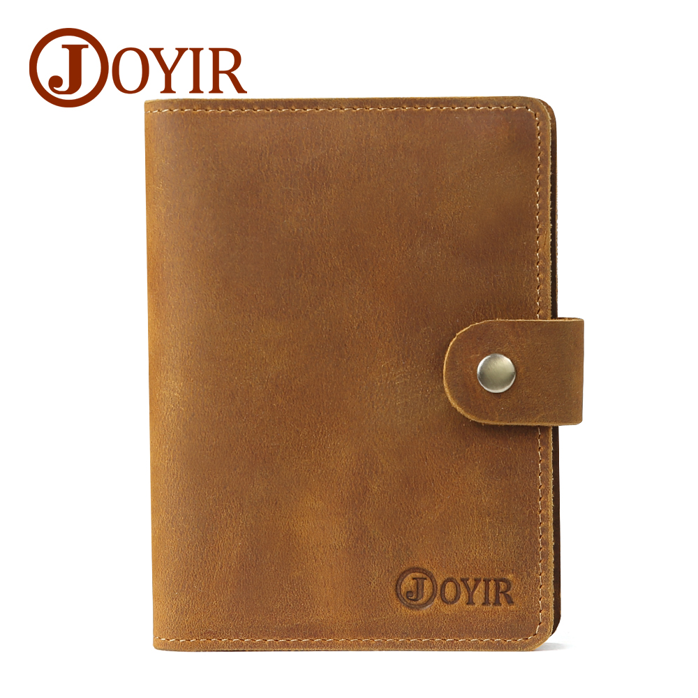 JOYIR Passport Cover Travel Holder Bag Credit Card Holder Leather Genuine Men Passport Holder Wallet Vintage Men Women 2064 joyir men passport cover genuine leather passport holder travel wallet card wallet credit card holder porte carte business male