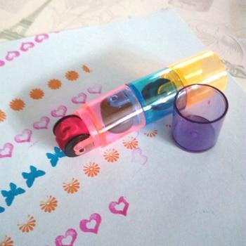 6 шт. 2 комплекта Комбинации Марки Pen Set цикла ролик Марка Дети DIY ручной записки фотоальбом студентов игрушка набор для рисования