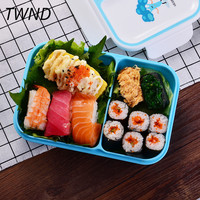 Japan style bento box middle age lunch boxes portable microwaveble tableware with bags spoons chopsticks 18