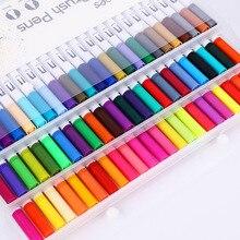 Kawaii Art Marker Pens 12/18/24/36/48/60/72/100 Colored Cute Ink Gen Manga Anime Watercolors Brush Pen Graffiti Painting Pencils