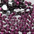 1000PCS ss20 5mm Hot Sale Flatback Acrylic Makeup Nail Art Decoration Glitter Rhinestones Beads Purple green  N17