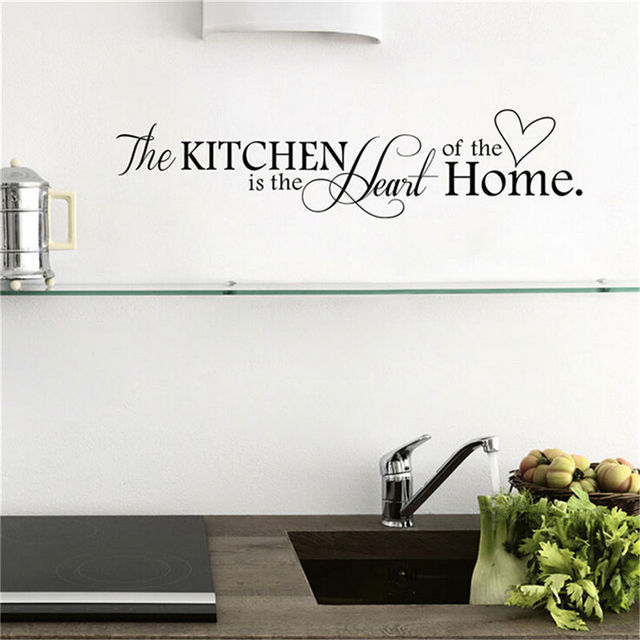 1 sheet kitchen is the heart of home wall sticker quote removable