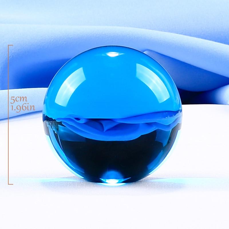 1 Parça 50 mm Kristal Top Müxtəlif Rənglər Ev Dekorasiyası - Ev dekoru - Fotoqrafiya 4
