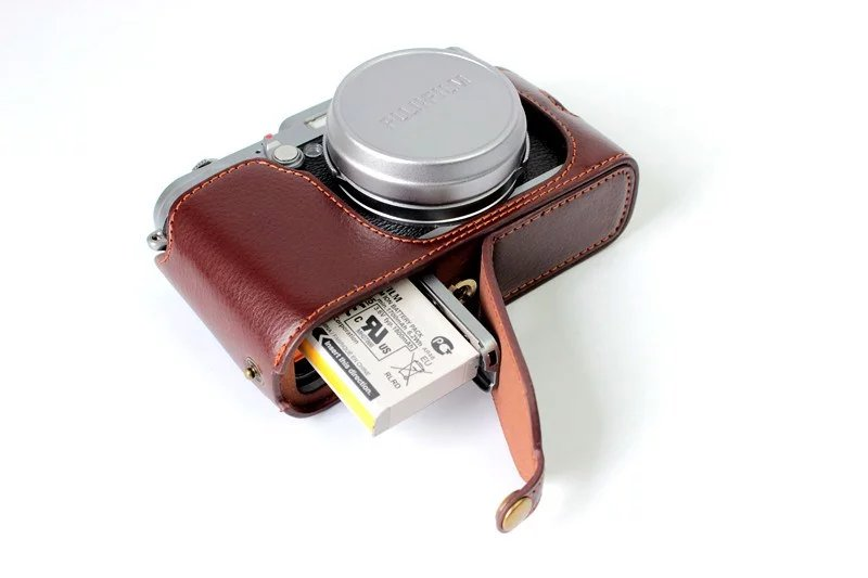 Genuine Leather Camera Case Half Body For FujiFilm X100 Fuji X100S X100T Camera Video Bag