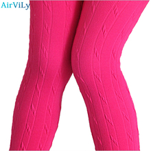 2017 Sale Mid New Fashion Knitting Kids Girls Leggings Autumn Winter Outfit Render Pants Children Female Warm Ruched Clothing