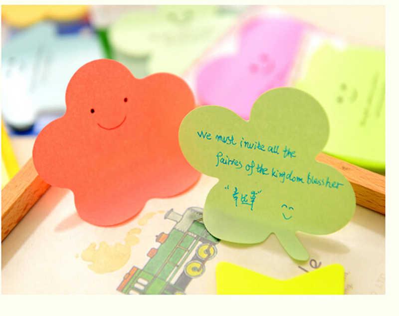1 ensemble autocollants de bande dessinée Notes autocollantes Message bloc-Notes mignon coeur fleur étoile calendrier papier autocollants artisanat autocollants