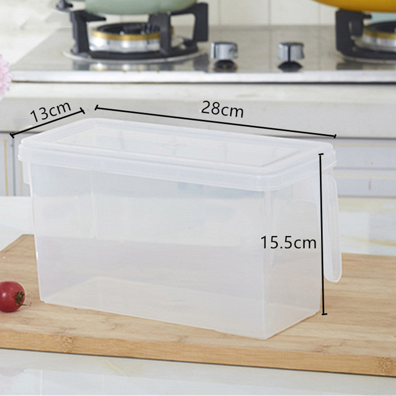 1 Pcs Refrigerator Storage Box Transparent Container Organizer Sealed Kitchen Food Fruits YU-Home1 Pcs Refrigerator Storage Box Transparent Container Organizer Sealed Kitchen Food Fruits YU-Home