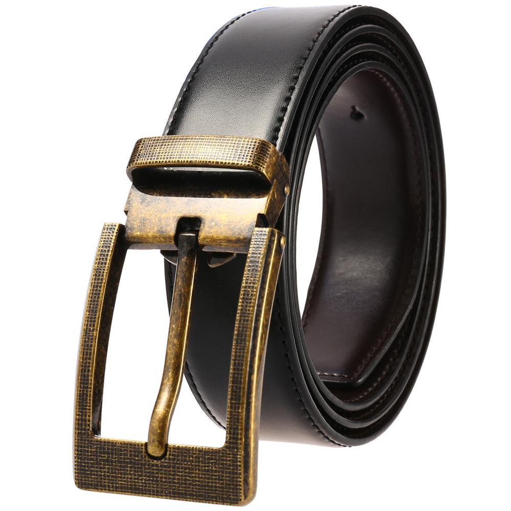 Luxury Designer Men Belts Men Good Quality Male Genuine Real Leather Women Belt Pin Buckle Waist Strap for Jeans Black Coffee in Men 39 s Belts from Apparel Accessories
