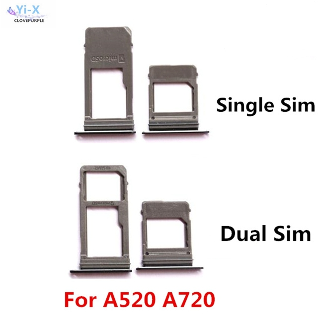 7a962710a6962 Single   Dual SIM Card Tray Slot Micro SD Card Tray Holder Adapter for  Samsung Galaxy A520 A720 A5 2017 A7 2017