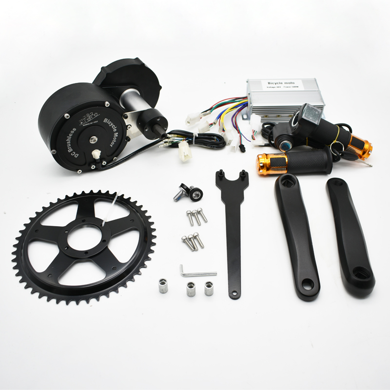 500W 48V DIY Mountain Ebike Middle Drive Brushless DC Motor Kit for Outdoor Cycling Strong Power Similar with BaFang Motor Kit