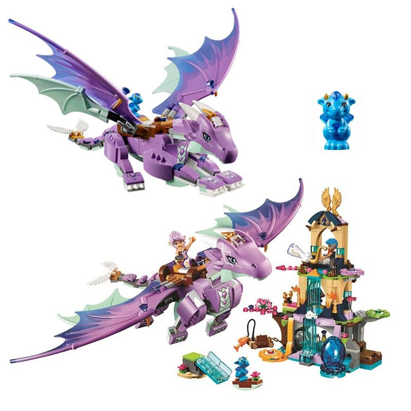 The Dragon Sanctuary Friends 41178 Building Block Model Toys for Children 10549 Compatible legoing Elves Figure Fairy Set Gift 2018 new girl friends fairy elves dragon building blocks kit brick toys compatible legoes kid gift fairy elves girls birthday