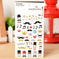 Funny Moustache Sticker Kids Christmas Sticker Flash Lovely Children Gift Kawaii Sticker For Skateboard Fridge Toy Styling