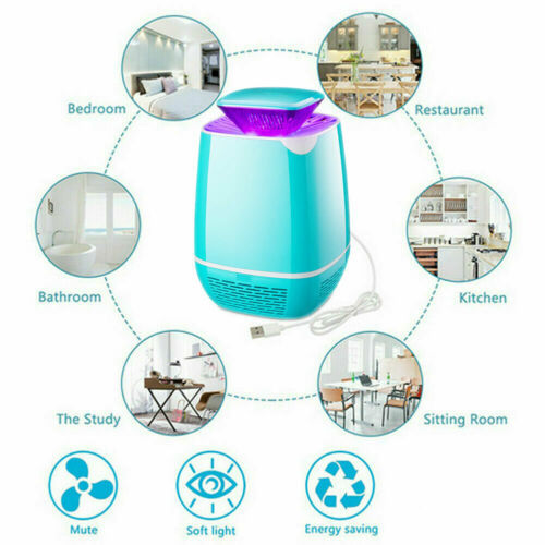 Indoor Home Electric Mosquito Fly Bug Insect Killer LED Light Trap Lamp USB Gadgets 4