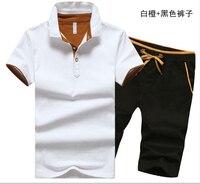 Fitness Tracksuit Summer Sporting Suit Fashio Men 2 Pcs R9622