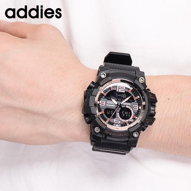 AIDIS Men Military Watch 30m Vattentät Armbandsur LED Quartz Clock - Herrklockor - Foto 5