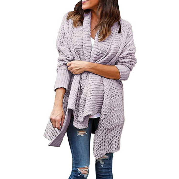 Long Cardigan Women Sexy Sweater Women Long Sleeve Loose Knitting Cardigan Sweater Women Solid Plus Size Jumpers Pull Femme in Cardigans from Women 39 s Clothing
