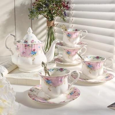 2018 Кофе семьи чашки керамические черный чашка тарелка послеобеденный чай чайник чашка поле доставка