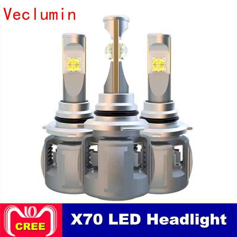 2pcs X70 H4 H7 H1 9005 9006 Car LED Headlight Bulb H11 H8 D1S D2S D4S hp Led Lamp Chip 120W 15600LM Headlamp Fog Lights 6000K