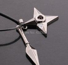Anime Jewelry Naruto Shuriken Necklace Vintage Pendant Necklace For Women&Men 10pcs/lot