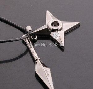 Image 1 - Anime bijoux Naruto Shuriken collier Vintage pendentif collier pour femmes et hommes 10 pièces/lot