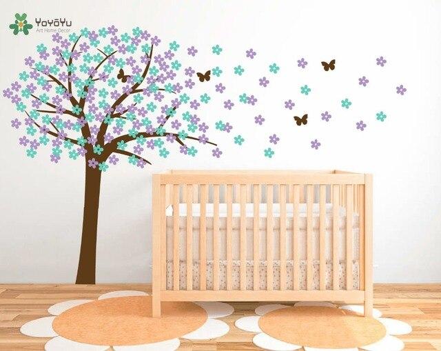 Wall Decal Vinyl Sticker Nursery Large Cherry Tree With Flowers - Custom large vinyl stickers