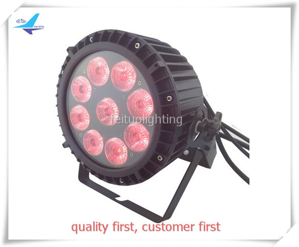 free shipping 6pcs/lot Sound Active Stage Lights Outdoor 9x10w RGBW 4in1 LED Par Can Waterproof DMX DJ Disco Party Wash Lighting