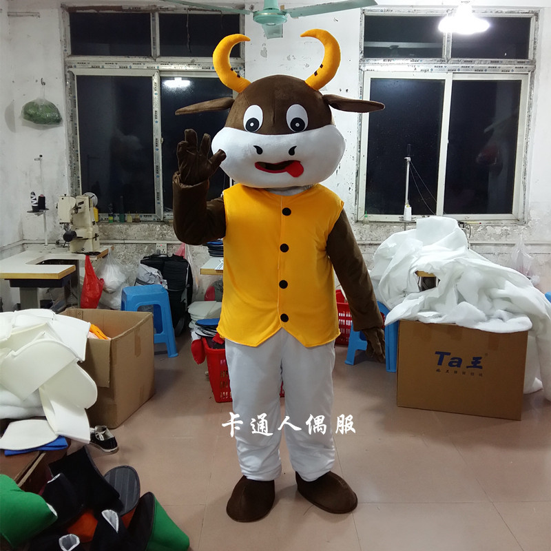 Haute qualité nouveau taureau boeuf vache mascotte Costume déguisement tenue Animal mascotte Costumes à vendre pour la fête d'anniversaire d'halloween