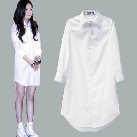 Aliexpress.com : Buy Women White Long Sleeve Loose Soft Boyfriend ...