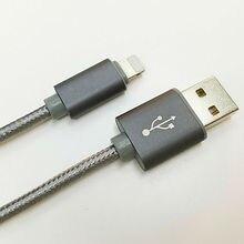 Алюминиевой кабо проволоки шнур линия ipad нейлон зарядное питания устройство s