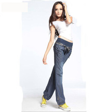 Waist Bow Women New Bloomers Jeans Pants QPD00031 1