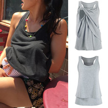 Летние женские футболки для беременных, кормящих мам, Женский конверт для младенца, топ без рукавов, двухслойная блузка, футболка, новинка